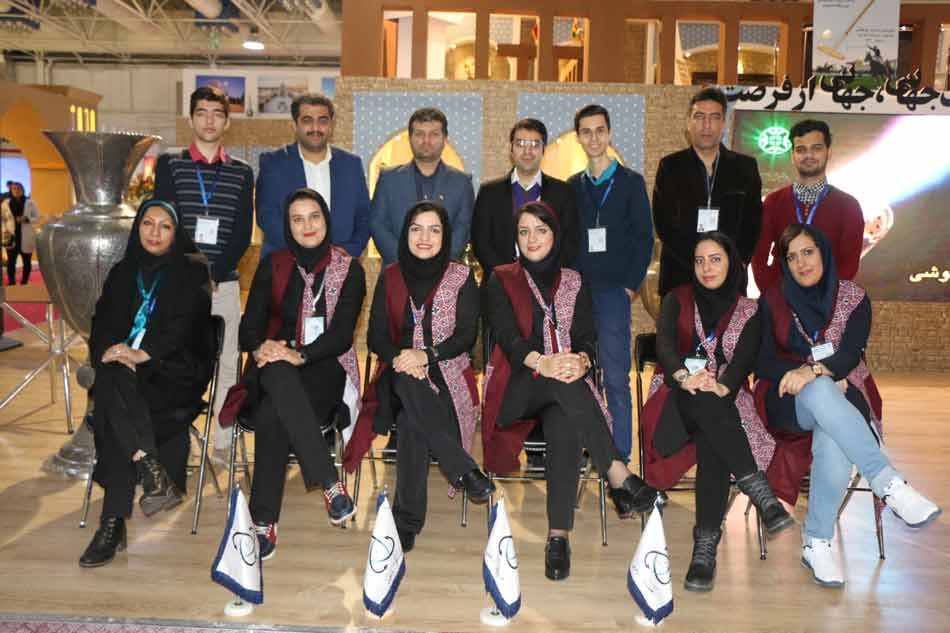 تیم اجرای پاویون اصفهان در نمایشگاه بین المللی گردشگری تهران